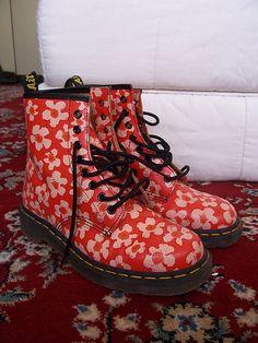 Floral Dr. Martens boots, UK.