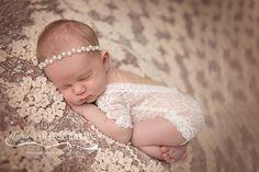 Newborn Lace Romper, Newborn Bodysuit, Photography Prop, Newborn Photo Prop…