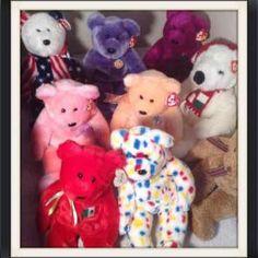 NWT THE FIRST 9 TY 1993 Beanie Babies SPLASH FLASH PATTI SQUEALER ... a5541370bd5