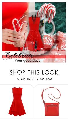 """""""Candy Canes"""" by colierollers ❤ liked on Polyvore featuring Alexander McQueen, Nine West, women's clothing, women's fashion, women, female, woman, misses and juniors"""
