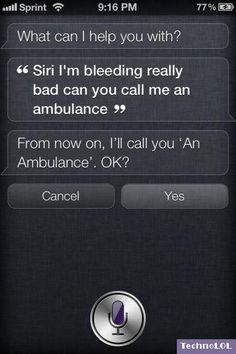 Very Funny Siri, I'm Serious!
