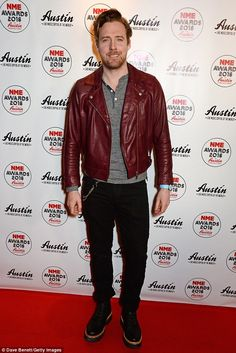 There he is: The Voice coach Ricky Wilson of Kaiser Chiefs fame was also present on the night
