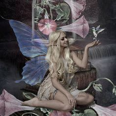 Morning Glory Fairy by G Berry Magic Wings, Berry, Mixed Media, Bury, Mixed Media Art