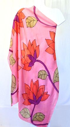 Silk Scarf Square Hand Painted Gift for her от SilkScarvesTakuyo