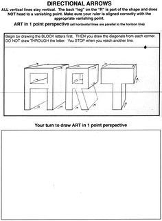 Junior Drawing Badge - GREAT resource for teaching one point perspective. 1 Point Perspective, Perspective Drawing Lessons, Elementary Art Lesson Plans, Art Worksheets, Printable Worksheets, Coloring Worksheets, Printables, Art Handouts, 6th Grade Art
