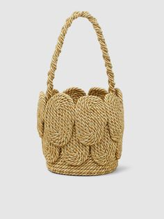 Discover the Cha Cha Mini Shell Silk Rope Bag by MEHRY MU at The Modist. Crochet Box Stitch, Macrame Bag, Diy Purse, Jute Bags, Kids Coats, Leather Shoulder Bag, Shoulder Bags, Knitted Bags, Quilted Leather