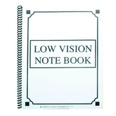Low Vision Notebook Bold Lines White Paper by Maxi-Aids. $5.95. White paper with bold black lines. Spiral notebook, with 70 sheets with bold black lines, which are 3/4 apart and on both sides. Measures 8 1/2x11