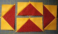 Tutorial for making 4 flying geese with no fabric waste.  She gives excellent instructions for this method, which I've not seen before.  Pretty clever!