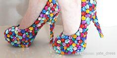 brillante di lusso scarpe da sposa colorati strass tacchi