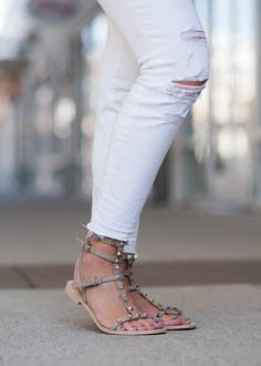 I am so obsessed with these Rebecca Minkoff Georgina Studded Gladiator Sandals. Such a great look for summer!