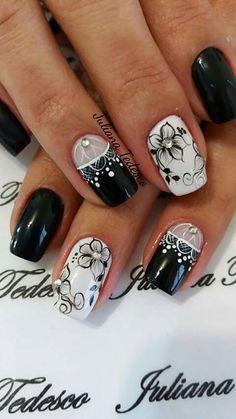 The Art Of Nails, My Nails, Nail Art Hacks, Easy Nail Art, Beautiful Nail Art, Gorgeous Nails, Cute Nails, Pretty Nails, Cat Eye Nails