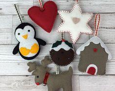 Christmas decoration, Felt decoration, Christmas felt decorations, Wool felt decoration, Felt Christmas decoration, Christmas, Handmade