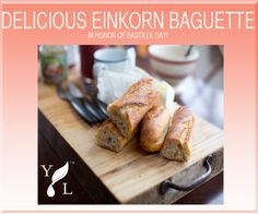 Happy Bastille Day! Use Young Living's new Einkorn mix to celebrate Bastille Day with a delicious baguette recipe!   Recipe and details here: https://blog.youngliving.com/?p=4901