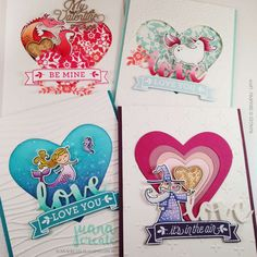 Stampin' Dreams Blog Hop - Bloomin' Love and Magical Day Love themed cards. Juana Create.
