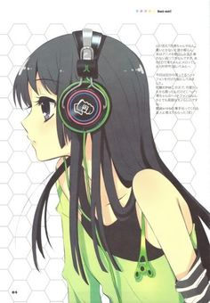 cool anime headphones girl