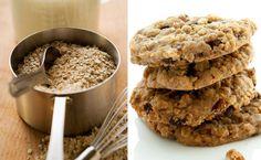 Rezept: 2-Zutaten-Kekse • 2 reife Bananen, 1Glas Haferflocken - - - Teig mit Esslöffel ausstechen  - flach drücken - 180 Grad / 15 Min