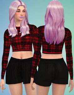 3 shorts and 3 different tops at Sevenhills Sims via Sims 4 Updates
