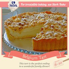 Need a recipe that excites and tastes divine? Try this Belgium Tart recipe for a delicious baked treat today! Stork – Love To Bake Brownie Recipes, Cake Recipes, Dessert Recipes, Dessert Ideas, Delicious Deserts, Yummy Snacks, Delicious Recipes, Sweet Pie, Sweet Tarts