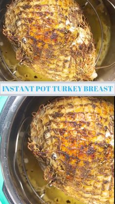 This Instant Pot Turkey Breast is moist and full of flavor. Instructions for bone-in and boneless turkey breast included in the post. Boneless Turkey Breast Recipe, Instant Pot Turkey Breast Recipe, Pressure Cooking Recipes, Air Fryer Dinner Recipes, Recipes Dinner, Turkey Recipes, Sausage Recipes, Turkey Food, Meatball Recipes