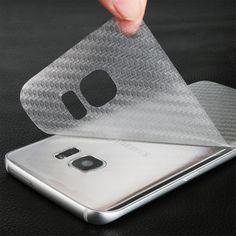 Durable 3D Anti-fingerprint Transparent Carbon Fiber Back Film Screen Protector Protective Guard For Samsung Galaxy S7 Edge //Price: $0.83//     #onlineshop
