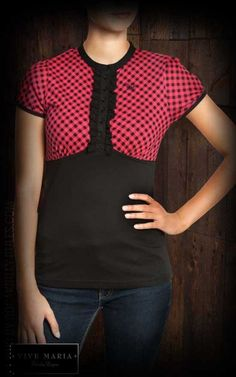 €49,90 Vive Maria - Lovely Fifty's Shirt - red black