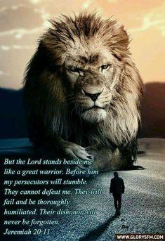 Lion Bible Verse, Bible Verses, Scriptures, Jeremiah 20 11, Have Faith, Faith In Humanity, Spiritual Awakening, Spirituality, Lord