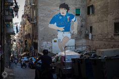 The Murales of Diego Armando Maradona in Naples (Quartieri Spagnoli).