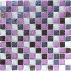 Details Zu Glasmosaik EffektMosaik Fliesen Klarglas Metall FX - Rosa mosaik fliesen