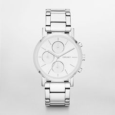 DKNY Watch, Silver Tone Chronograph Watch NY8860 | WatchStation®