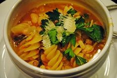 Sunday At the Giacometti's: Pasta e Fagioli~Pasta with Cannellini Beans
