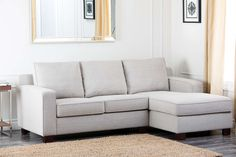 Lowest price on Abbyson Living Regina Gray Fabric Sectional Sofa RL-1321-GRY. Shop today!