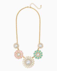 charming charlie | Feminine Floral Necklace | UPC: 410007397834 #charmingcharlie