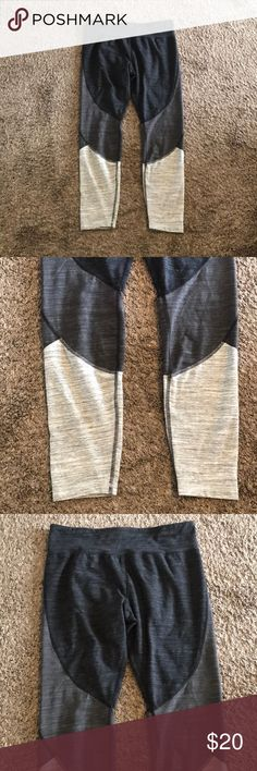 Brand New Women's Athletic Ombré Leggings Brand New Women's Athletic Performance Ombré Leggings. I ordered them online and they are too big for my liking. Never worn just tried on! Size Large. Tag says L/G (12-14) 86% Cotton 7% Polyester and 7% Spandex. Light gray, medium gray and black. Brand is Athletic Works. Athletic Works Pants Leggings