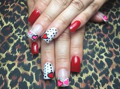 My nails for valentine