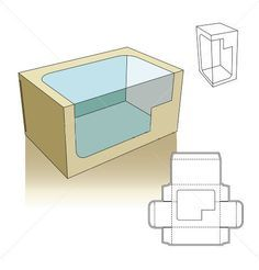 Window style box template with transparent display
