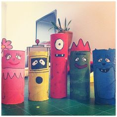Totally cute TP tube Yo Gabba Gabba characters from @saynoodle
