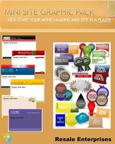 Mini Site Graphic Pack: 20 Mini-Site Templates (MRR)  http://www.tradebit.com/filedetail.php/7692910-mini-site-graphic-pack-20-mini-site-templates