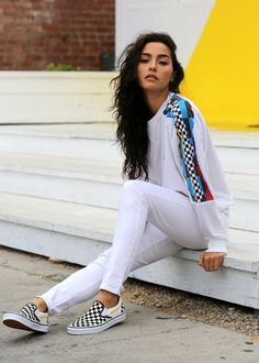Checked Out in Wimbledon Whites - Adrianne Ho of Sweat The Style