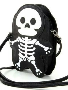 Cute Little Spooky Skeleton Bones Cross Body Bag Purse from Dysfunctional Doll. Saved to bags purses and more 👜. Crossbody Shoulder Bag, Shoulder Handbags, Crossbody Bag, Black Handbags, Luxury Handbags, Backpack Purse, Fashion Backpack, Mochila Retro, Halloween Bags