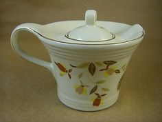 Hall China Jewel Tea Autumn Leaf - Baby Melody Teapot - 1995 Limited Edition