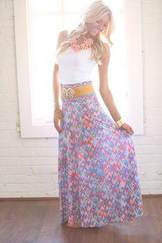 Easter Morning Maxi Skirt - Modern Vintage Boutique