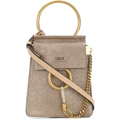 Chloé Small Faye Bracelet bag ($1,150) ❤ liked on Polyvore featuring bags, handbags, shoulder bags, hand bags, leather man bags, man bag, leather hand bags and brown leather purse