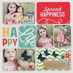 A Project Life style layout by Tamara Tripodi using Happy Go Lucky Photo Freedom collection by Echo Park.