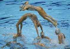 Las mejores imágenes de la final de natación sindronizada por equipos - RTVE.es