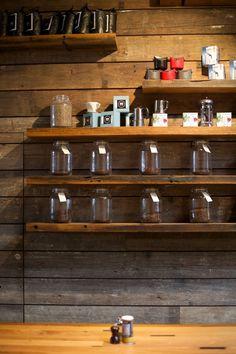 shelves/walls/jars - perhaps a little wider for more merchandise