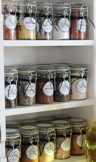 Free pantry labels.  Look like chalkboard, not as shown in picture.  Check out the website.