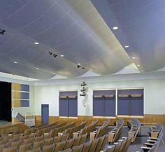 black out auditorium ceiling design Auditorium Design, Function Room, Ceiling Panels, Modern Ceiling, Home Studio, Ceiling Design, House Styles, Interior, Studio Ideas