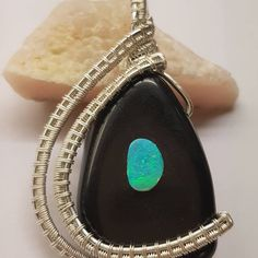New Onyx Opal Pendant  Availaible at Opaltales  www.opaltales.com  #opals #opallove #opal #fashion #model #pictureoftheday #pendant… Opals, Gemstone Rings, Pendants, Gemstones, Model, Jewelry, Instagram, Fashion, Moda