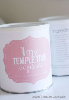 Temple Time Capsule Printables - A fun mutual activity for the Young Women.