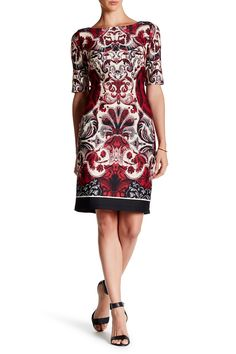 Paisley Print Scuba Dress by Taylor on @nordstrom_rack
